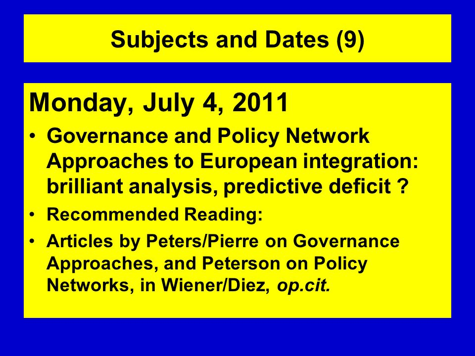 Monday, July 4, 2011 Subjects and Dates (9)