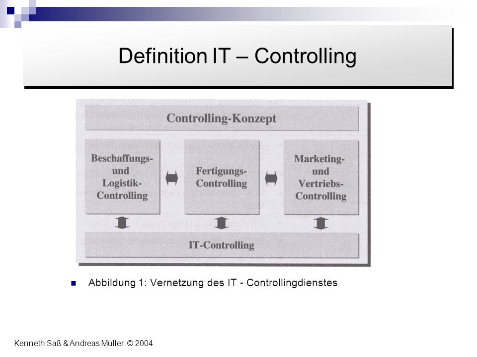 Definition IT – Controlling