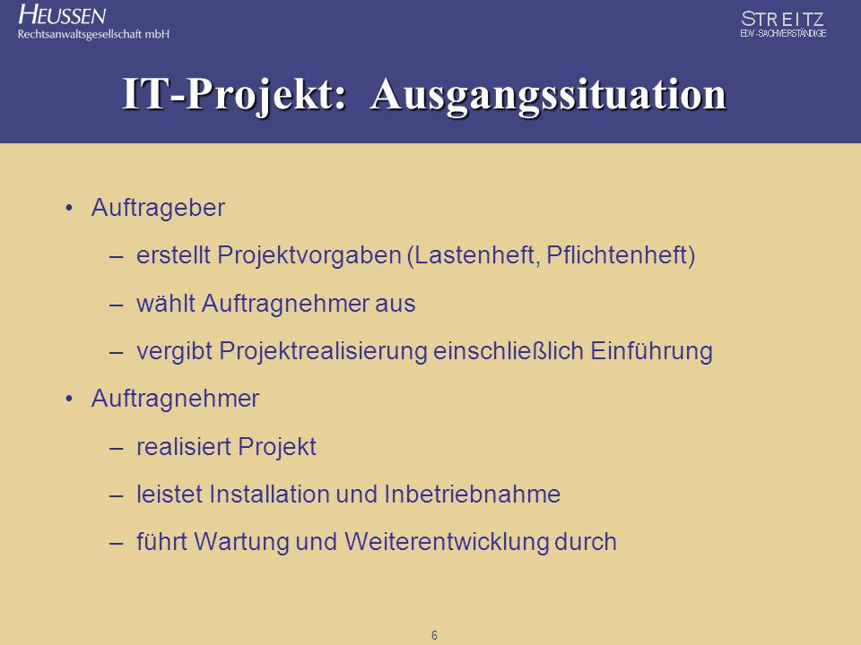 IT-Projekt: Ausgangssituation
