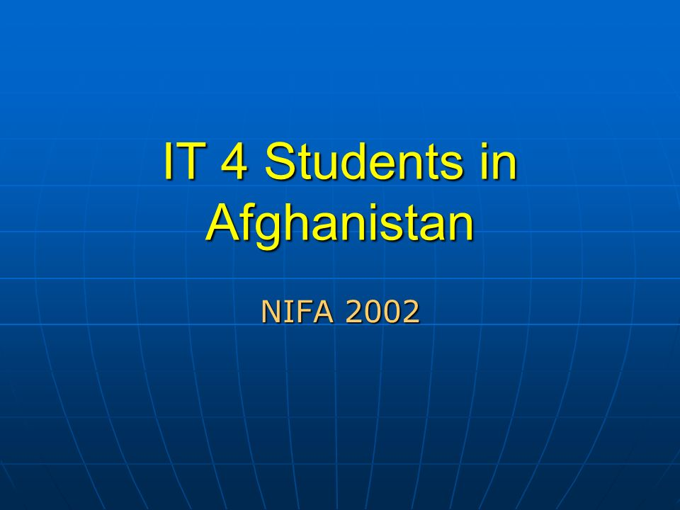 IT 4 Students in Afghanistan