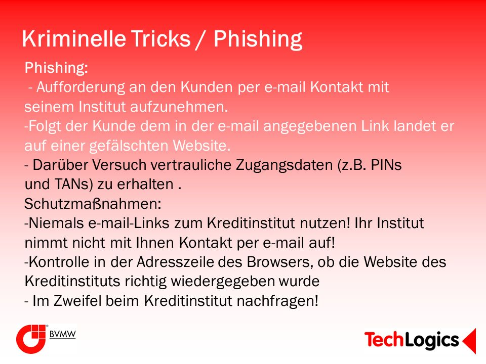 Kriminelle Tricks / Phishing