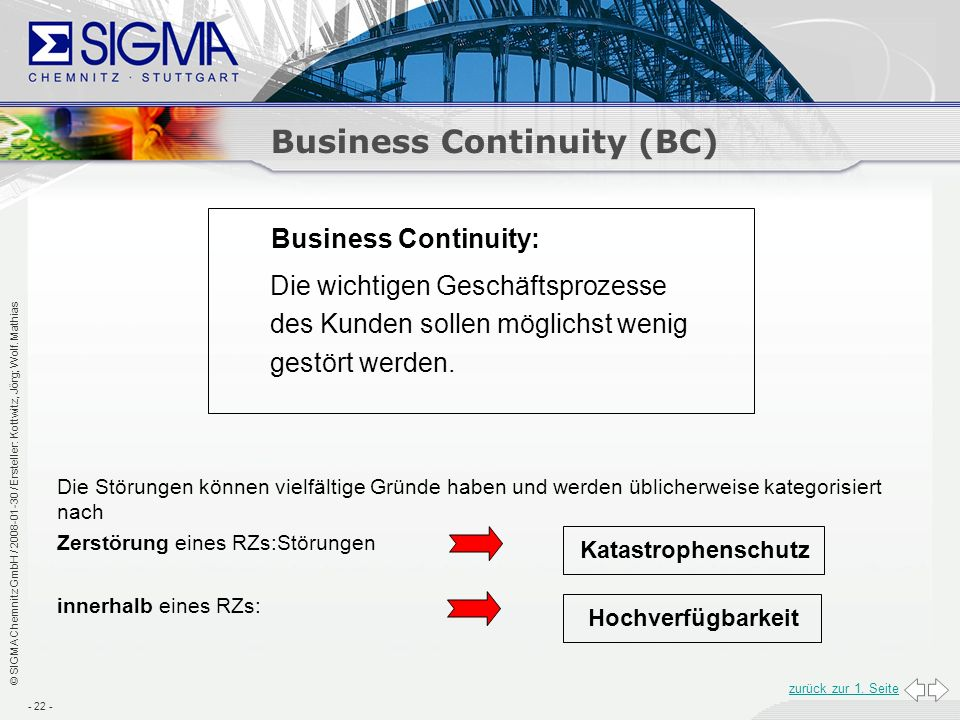 Business Continuity (BC)
