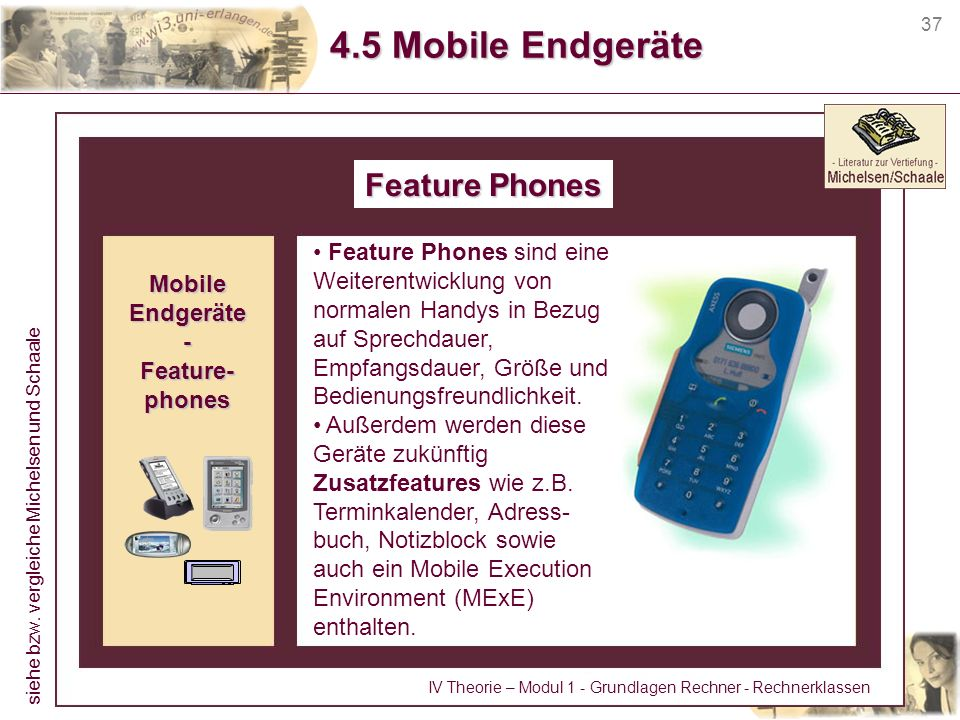 4.5 Mobile Endgeräte Feature Phones