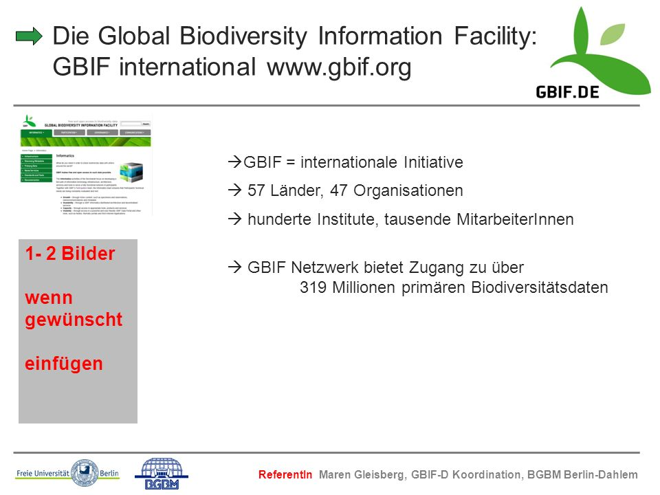 Die Global Biodiversity Information Facility: