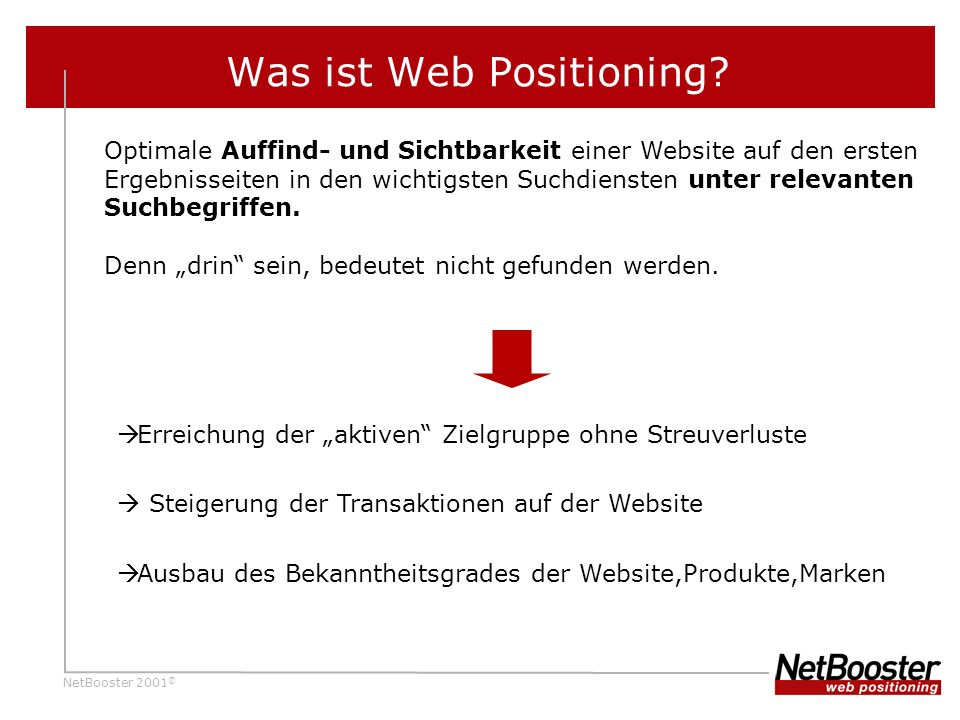 Was ist Web Positioning