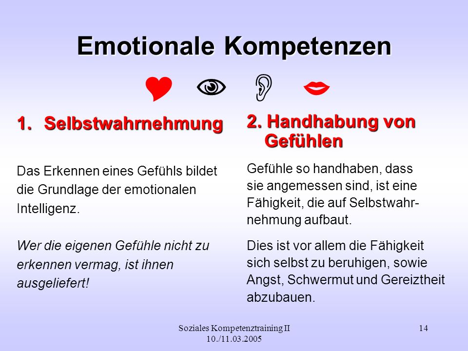 Emotionale Kompetenzen