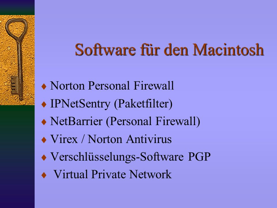 Software für den Macintosh
