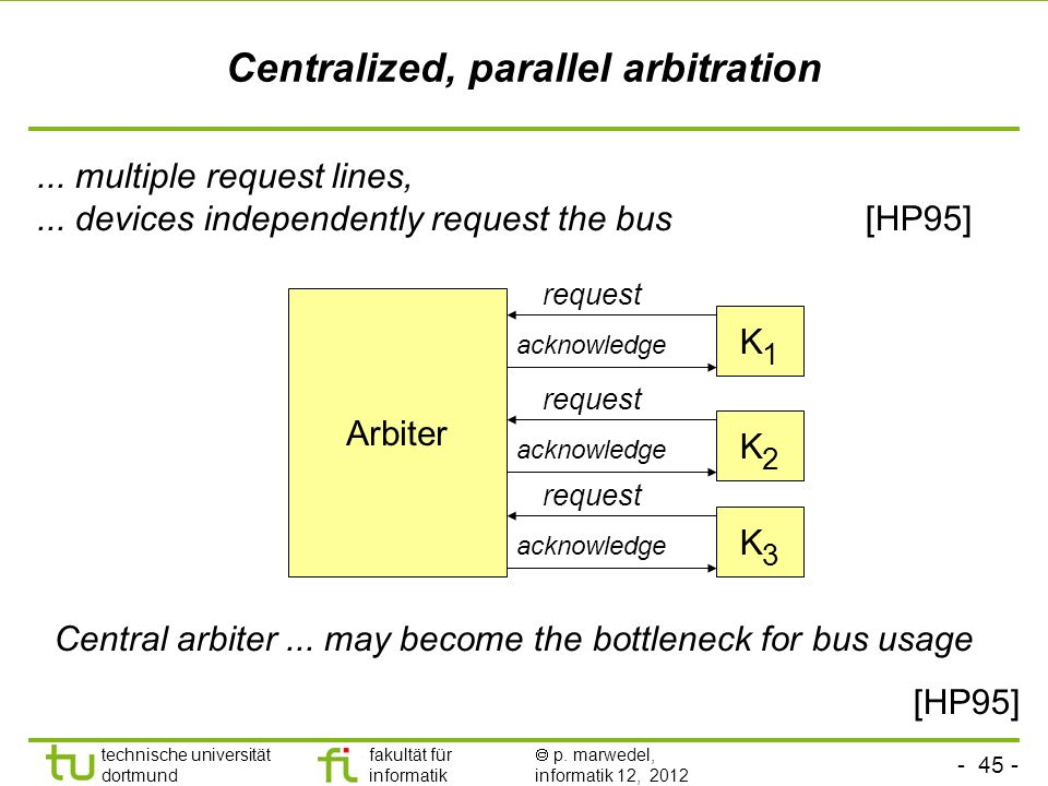 Centralized, parallel arbitration