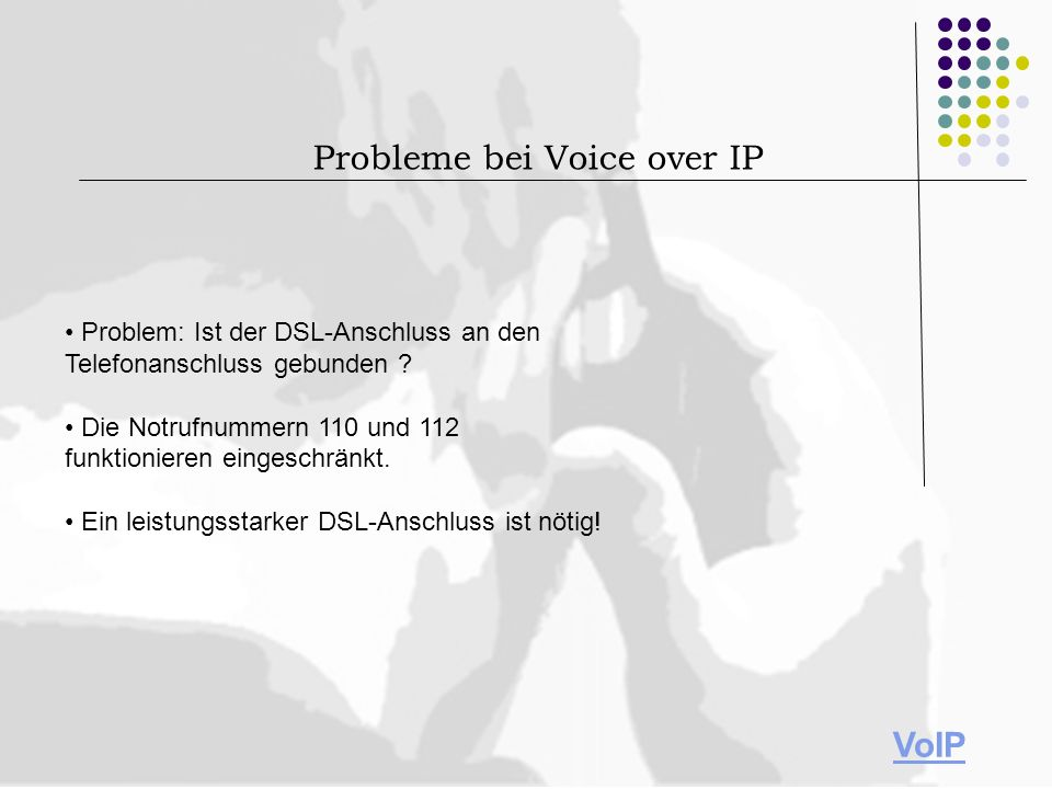 Probleme bei Voice over IP