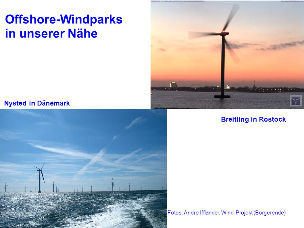 Offshore-Windparks in unserer Nähe Nysted in Dänemark