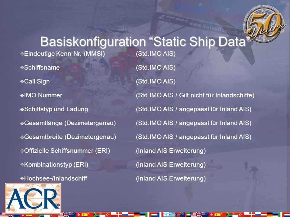 Basiskonfiguration Static Ship Data