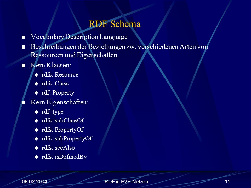 RDF Schema Vocabulary Description Language