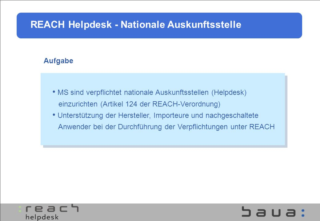 REACH Helpdesk - Nationale Auskunftsstelle