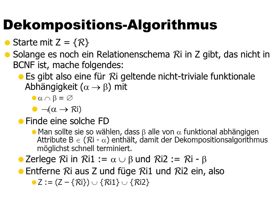 Dekompositions-Algorithmus
