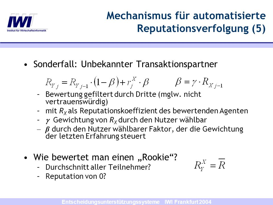 Mechanismus für automatisierte Reputationsverfolgung (5)