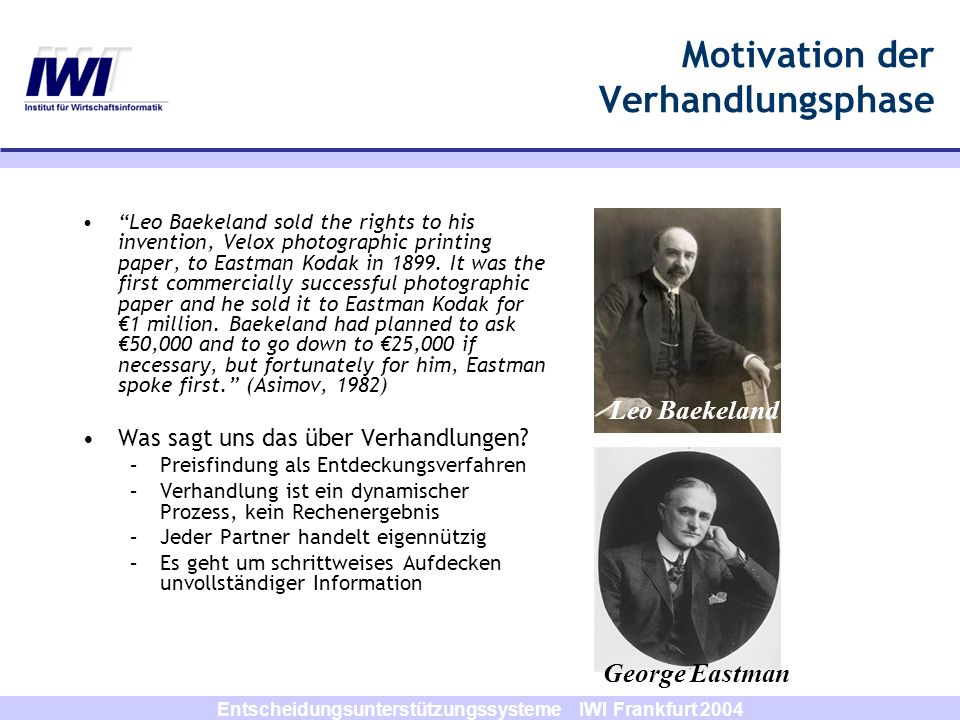 Motivation der Verhandlungsphase