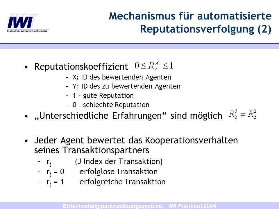 Mechanismus für automatisierte Reputationsverfolgung (2)