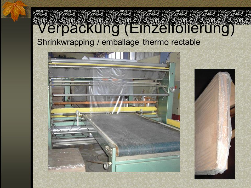 Verpackung (Einzelfolierung) Shrinkwrapping / emballage thermo rectable