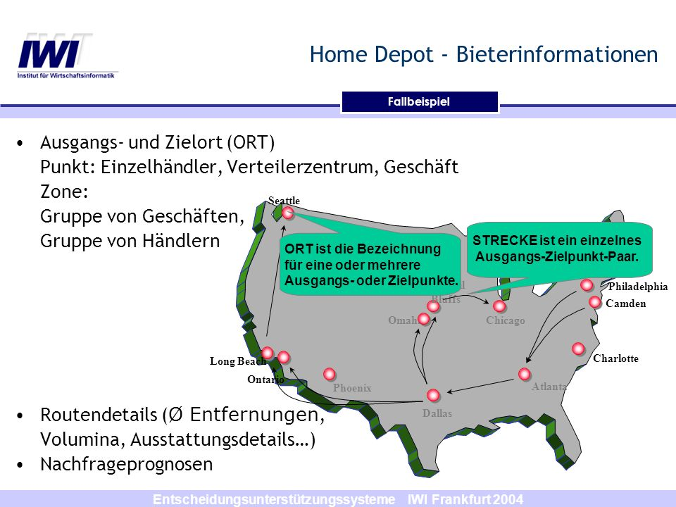 Home Depot - Bieterinformationen