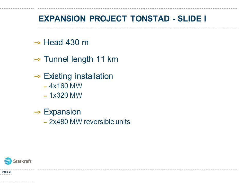 EXPANSION PROJECT TONSTAD - SLIDE I