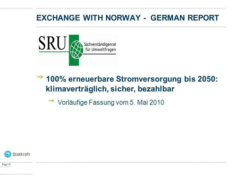 Exchange with norway - GERMAN REPORT