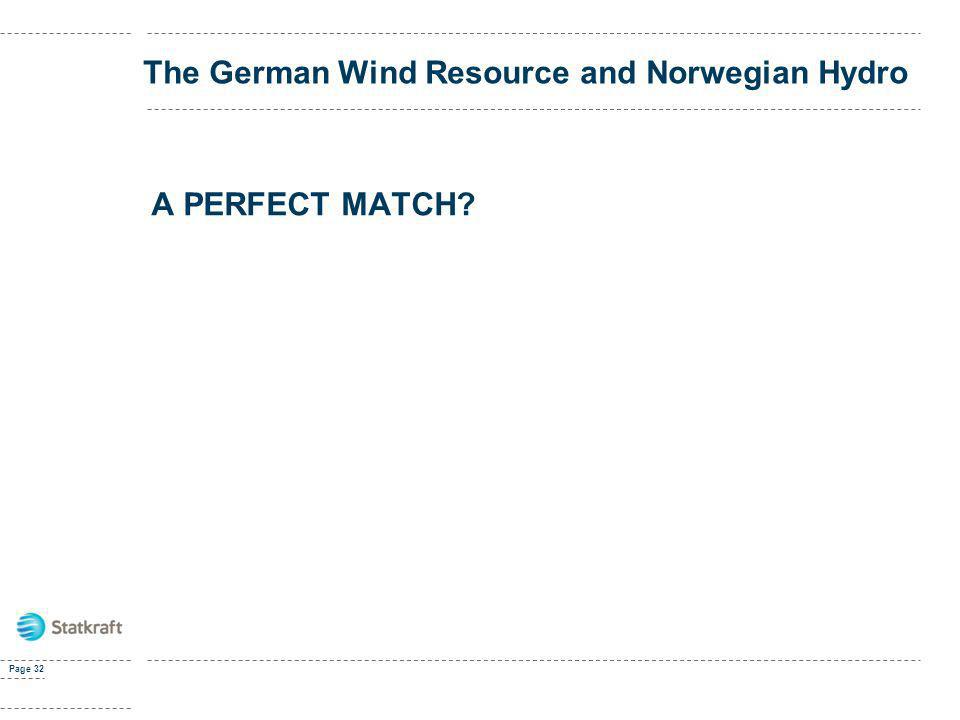 The German Wind Resource and Norwegian Hydro