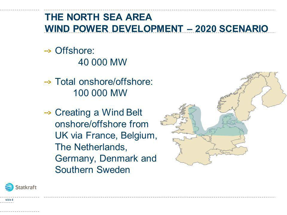 THE North sea area wind power development – 2020 scenario