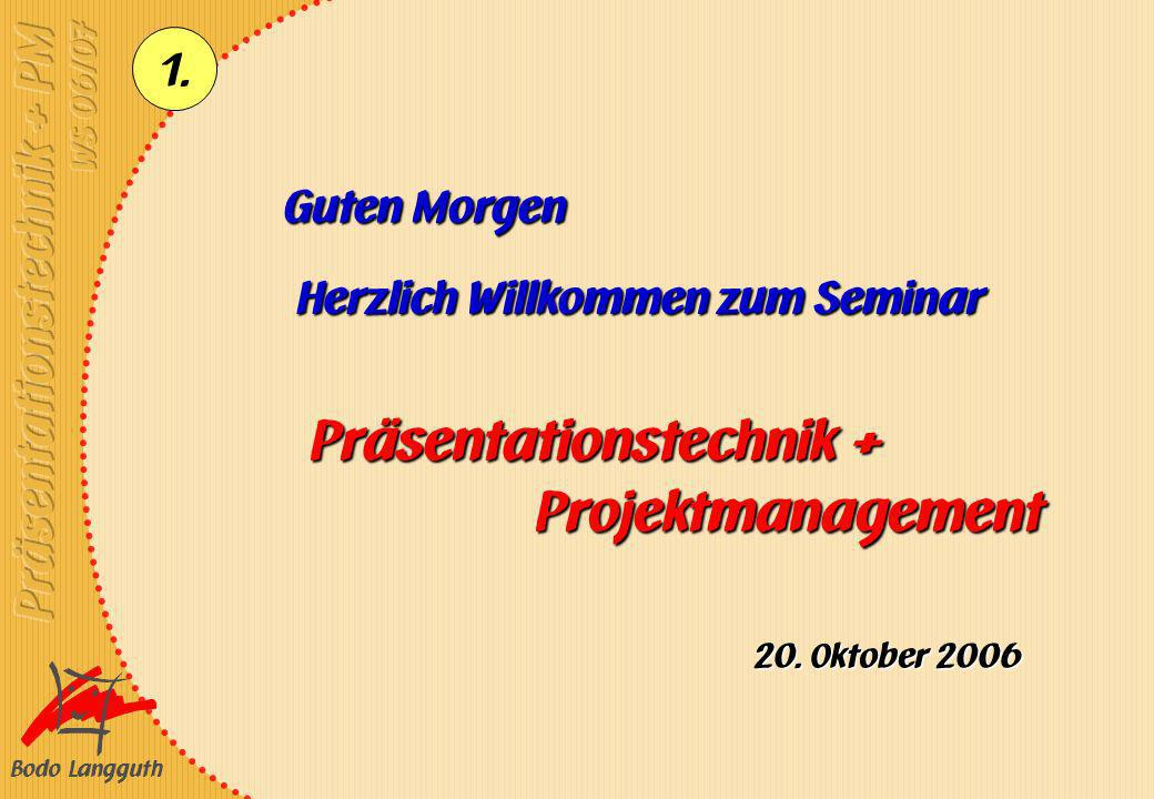 Präsentationstechnik + Projektmanagement