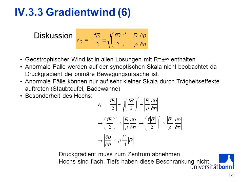 IV.3.3 Gradientwind (6) Diskussion