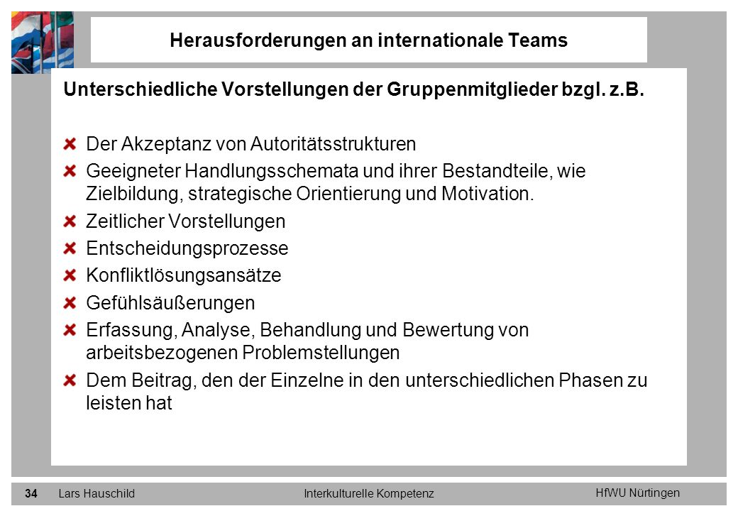 Herausforderungen an internationale Teams