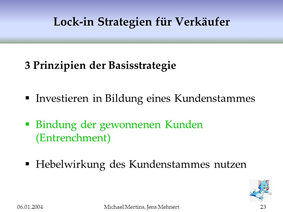 Lock-in Strategien für Verkäufer