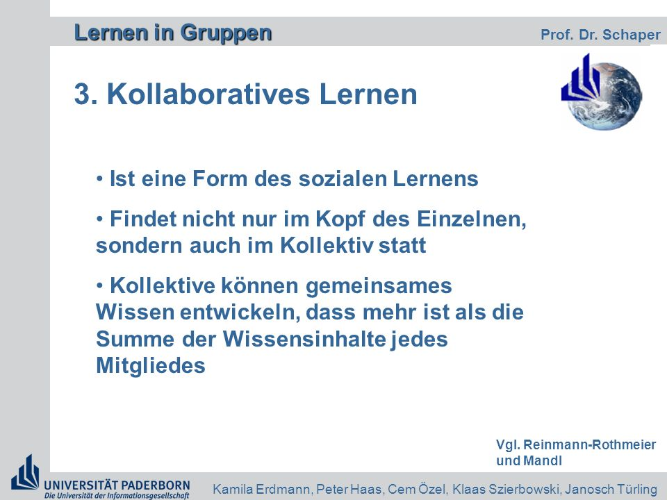 3. Kollaboratives Lernen