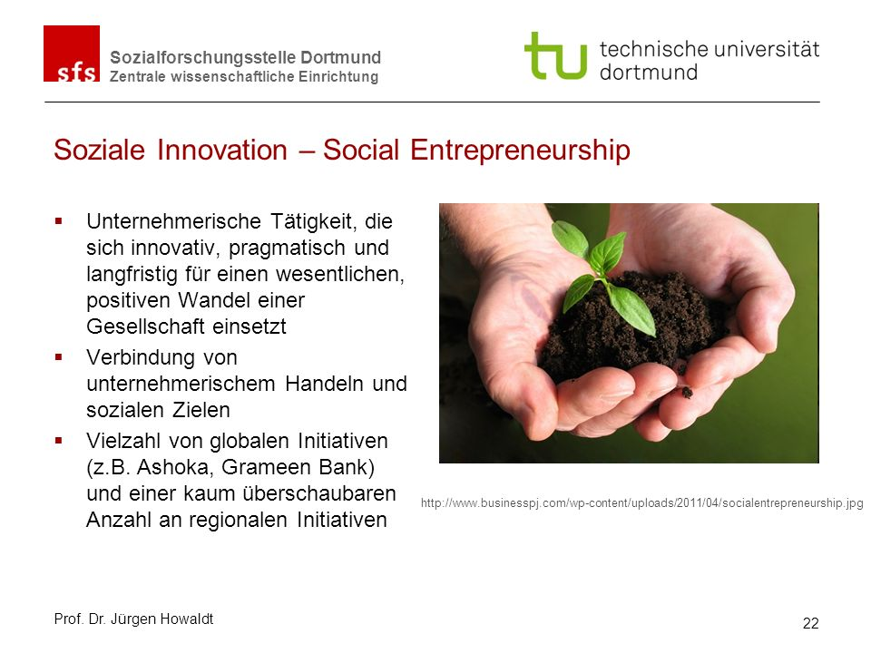 Soziale Innovation – Social Entrepreneurship
