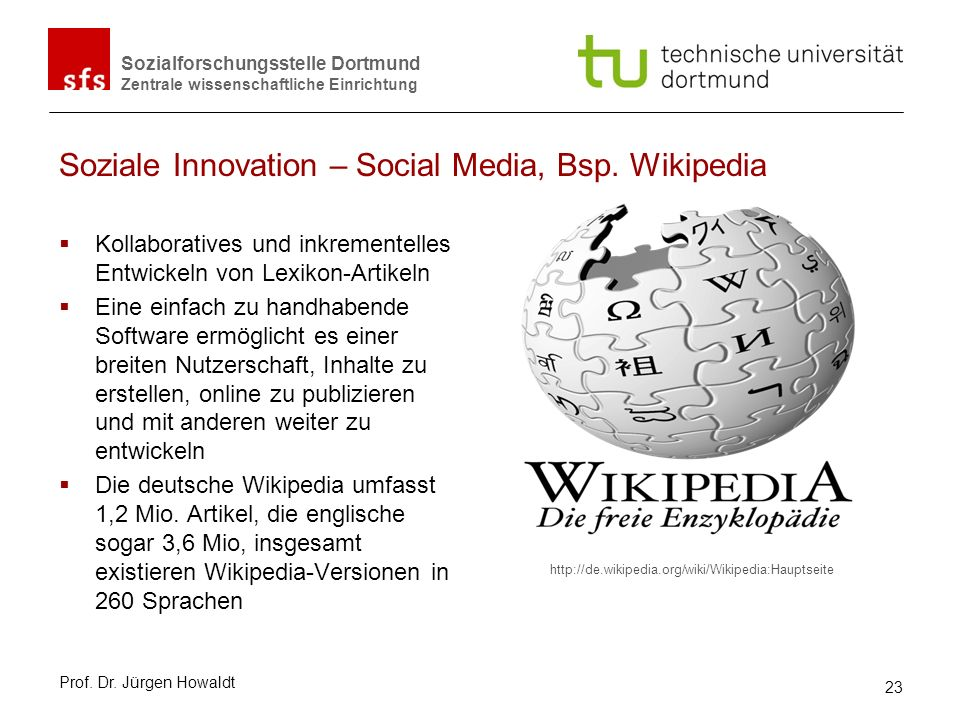 Soziale Innovation – Social Media, Bsp. Wikipedia