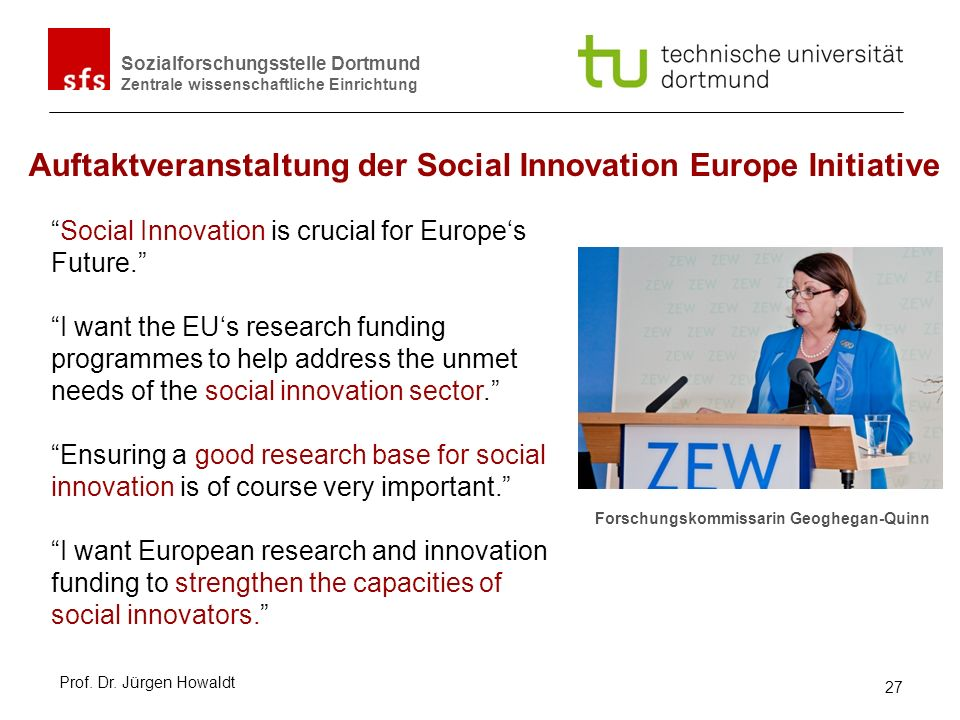Auftaktveranstaltung der Social Innovation Europe Initiative