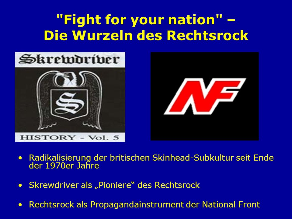 Fight for your nation – Die Wurzeln des Rechtsrock