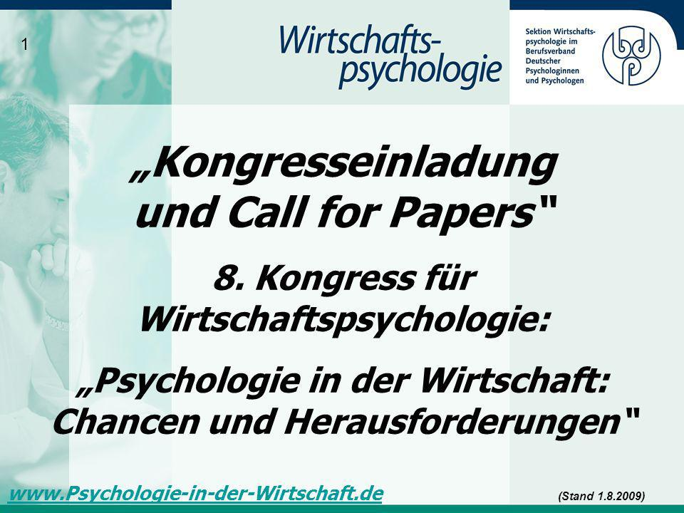 """Kongresseinladung und Call for Papers"