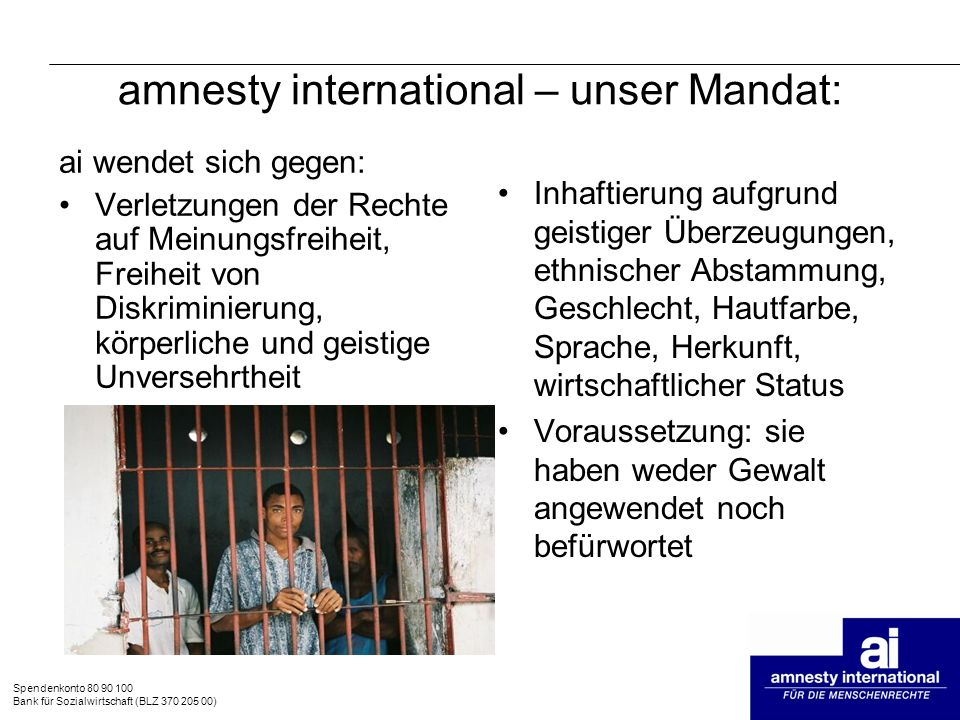 amnesty international – unser Mandat: