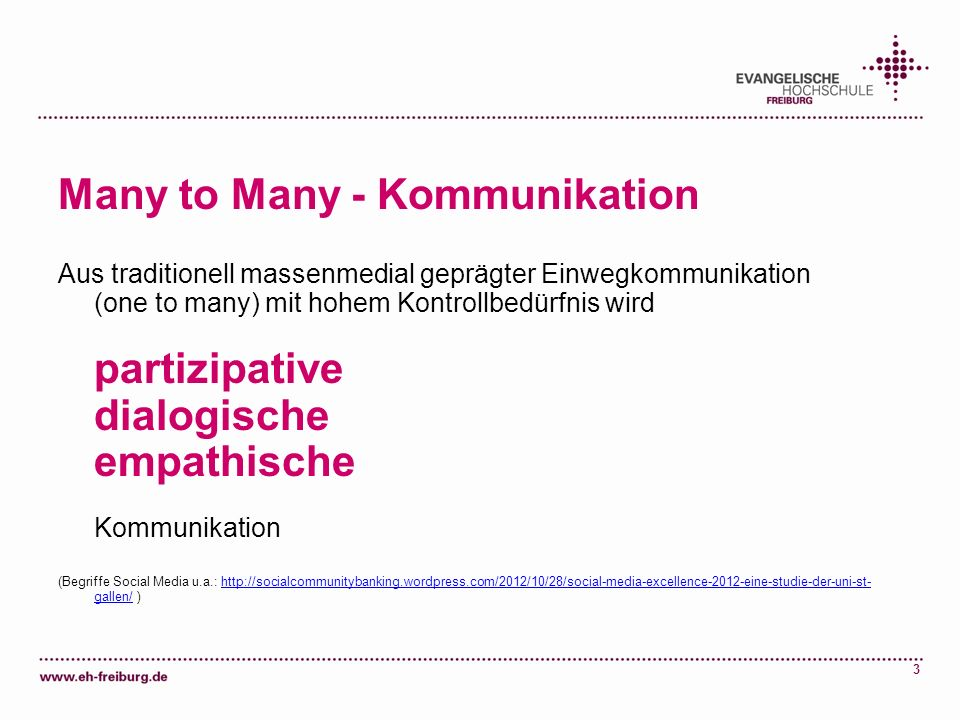 Many to Many - Kommunikation