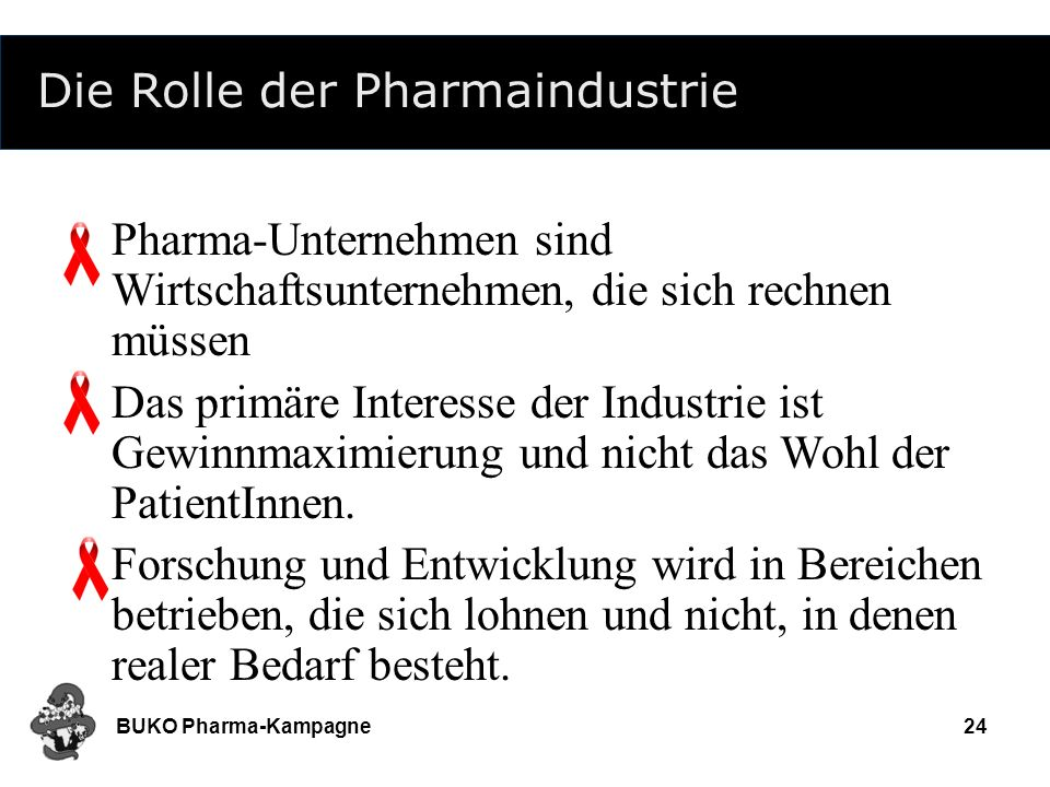 Die Rolle der Pharmaindustrie