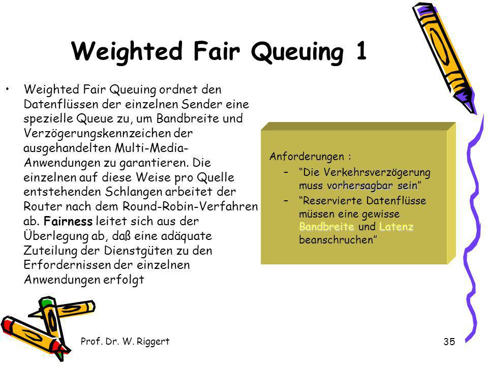 Weighted Fair Queuing 1