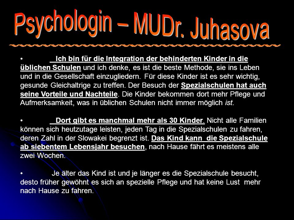 Psychologin – MUDr. Juhasova