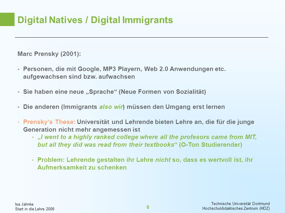Digital Natives / Digital Immigrants