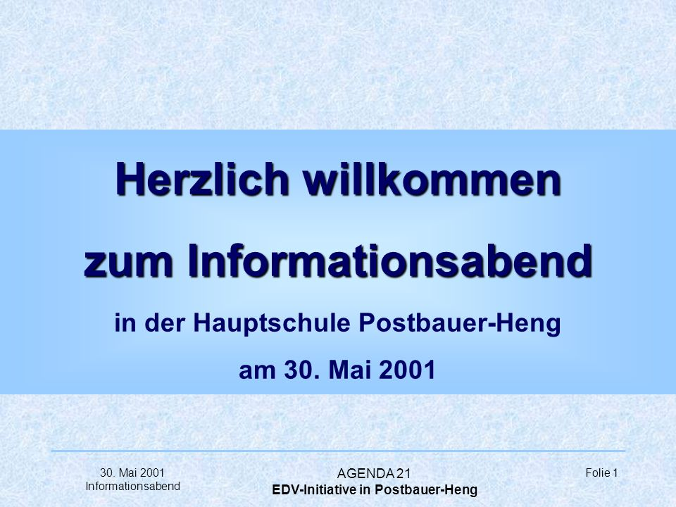 EDV-Initiative in Postbauer-Heng