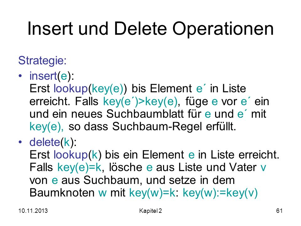 Insert und Delete Operationen