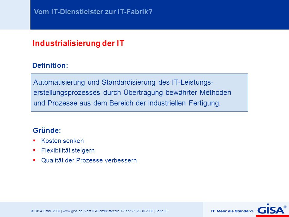 Industrialisierung der IT