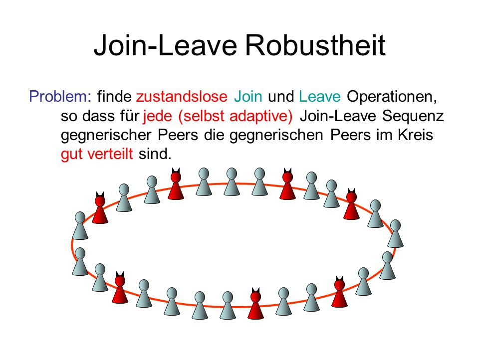 Join-Leave Robustheit