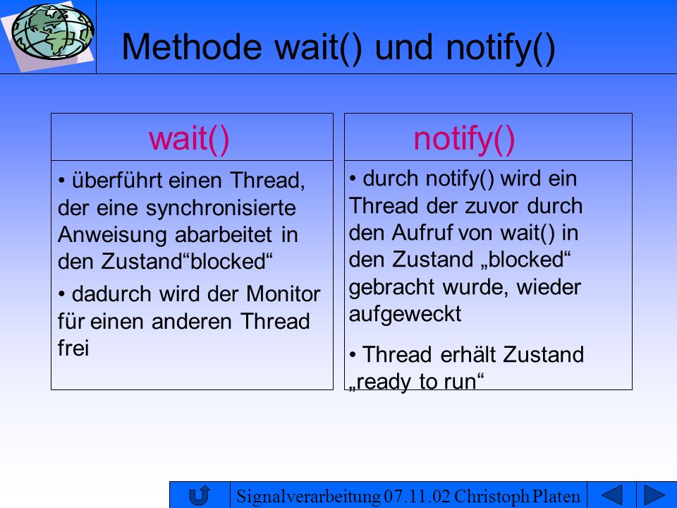 Methode wait() und notify()