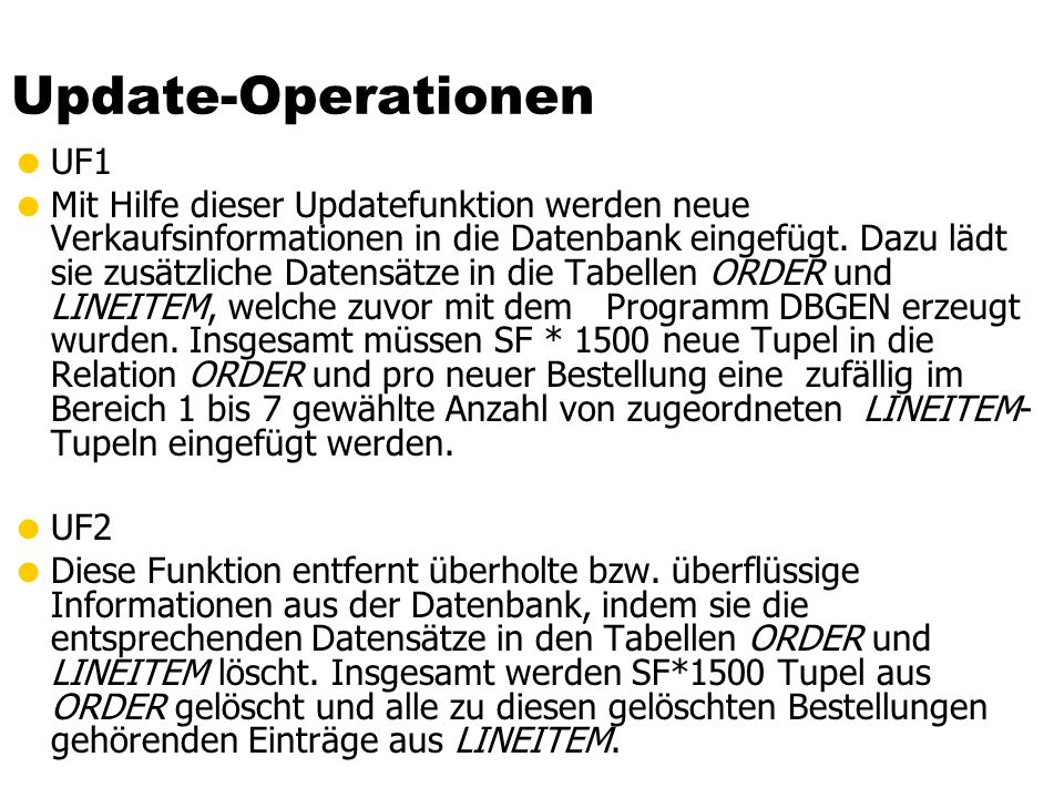 Update-Operationen UF1