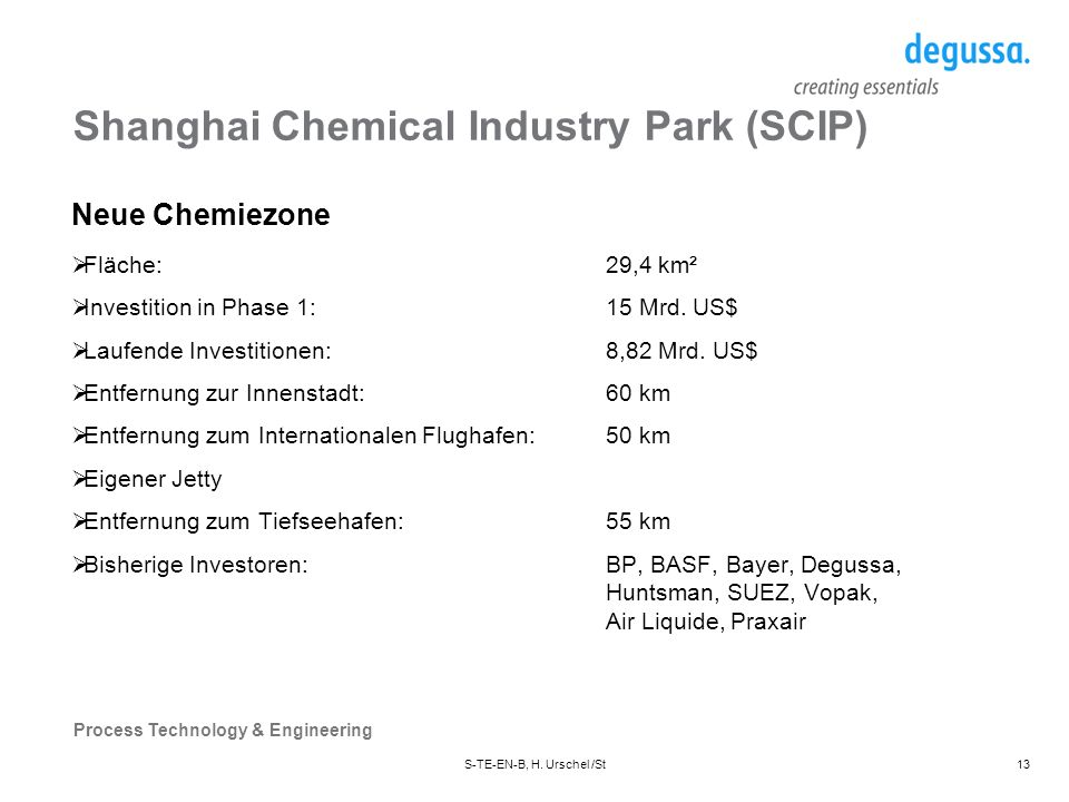 Shanghai Chemical Industry Park (SCIP)